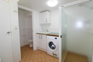 A bathroom at Beachfront 2, 25 Willow Street