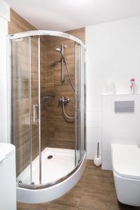A bathroom at Apartament Smętka