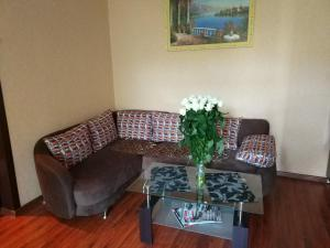 Гостиная зона в Apartment Lux Center Ukraina moll, near cafe Bosfor
