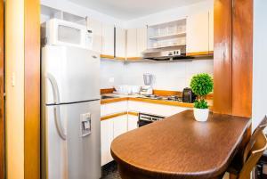 A kitchen or kitchenette at Lloyds Apartasuites Parque 93