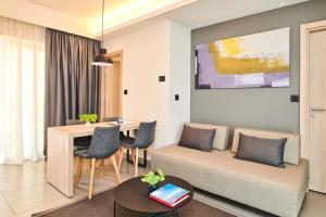 A seating area at Apartments Park Plava Laguna
