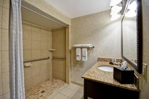 A bathroom at Embassy Suites Charleston - Historic District