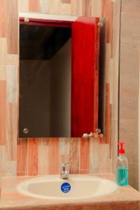 A bathroom at Hotel Tapyrus