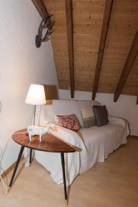 Ein Sitzbereich in der Unterkunft BnB Alpenblick