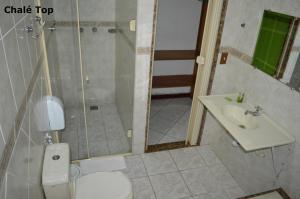 Um banheiro em Pousada Lapônia