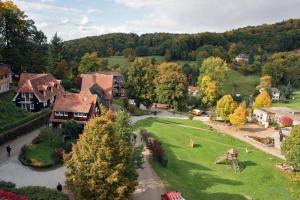 Blick auf Bergblick Appartement - Odenwald pur! aus der Vogelperspektive