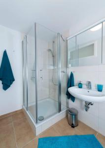 Ein Badezimmer in der Unterkunft Schonblick - gemutlich ubernachten!