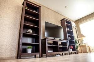 A television and/or entertainment center at Apartments on Goncharova street 22