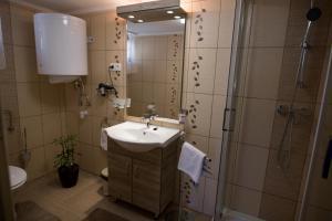 A bathroom at Boróka Vendégház Túrkeve