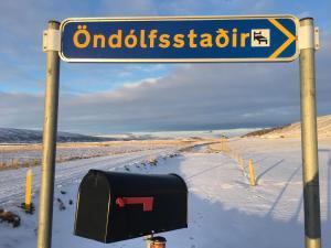 Öndólfsstaðir Farm B&B during the winter