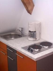Küche/Küchenzeile in der Unterkunft Hotel Allee No. 4