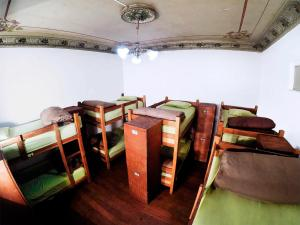 A bunk bed or bunk beds in a room at Bunkie Hostel