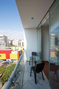 A balcony or terrace at Departamento Larcomar