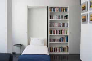 Die Bibliothek in der Ferienwohnung