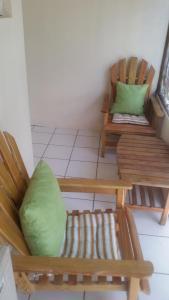 A seating area at Malia's Super Studio
