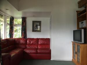 A seating area at Akaroa Coastal Cottage
