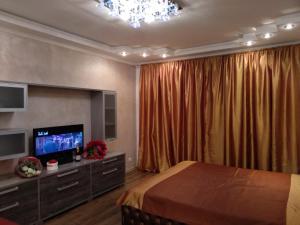 Телевизор и/или развлекательный центр в Апартаменты Инга на Солнечной 6
