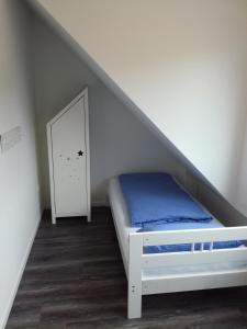 Postel nebo postele na pokoji v ubytování Auszeit & Ankerplatz