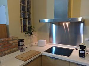 A kitchen or kitchenette at Loft con vistas en Plaza de Belén