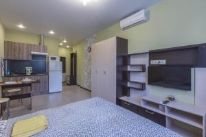 Телевизор и/или развлекательный центр в Apartment on Nekrasova 13a