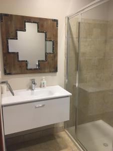 A bathroom at Lupo's Loft