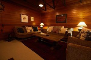 A seating area at Mowamba River Lodge