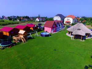 Widok z lotu ptaka na obiekt Bajkowa Gąska