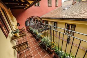 Balkón nebo terasa v ubytování Hotel Ebersbach
