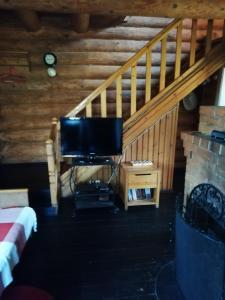 Телевизор и/или развлекательный центр в Seliger Motel
