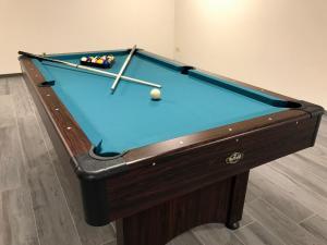 A billiards table at Villa Natica