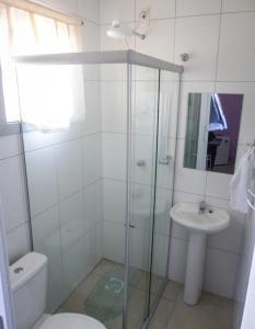 A bathroom at Hotel Farrapos