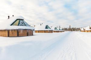 Levi Northern Lights Huts during the winter