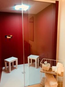 Ein Badezimmer in der Unterkunft Hotel Verdi