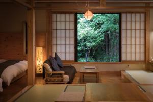 A seating area at Ryokan Fujimoto