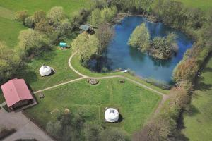 A bird's-eye view of Acorn Glade Glamping