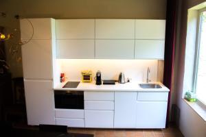 Een keuken of kitchenette bij B&B Koetshuis