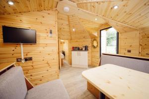 A television and/or entertainment center at Delny Glamping