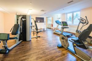 Das Fitnesscenter und/oder die Fitnesseinrichtungen in der Unterkunft Best Western Hotel München Airport