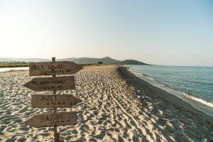 Ein Strand an oder in der Nähe des Campingplatzes