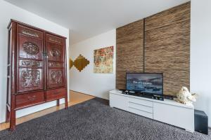 A television and/or entertainment center at TPC Infante Apartment by Douro River