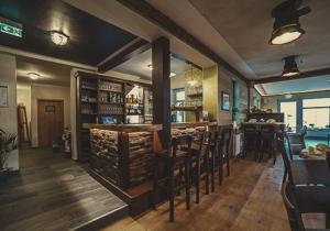 Lounge oder Bar in der Unterkunft Brauereigasthof Marktmühle