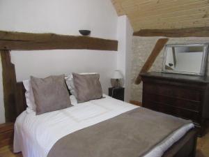 Un ou plusieurs lits dans un hébergement de l'établissement Appartement au bord de l'Eure