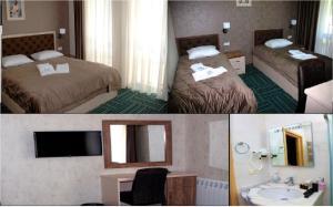 Cama ou camas em um quarto em Bergs Otel And Restaurant