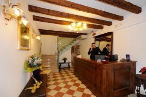 The lobby or reception area at Hotel Il Mercante di Venezia