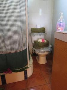 A bathroom at Cabañas Peretei