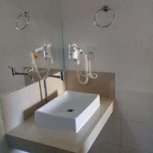 A bathroom at Solarium Park Hotel