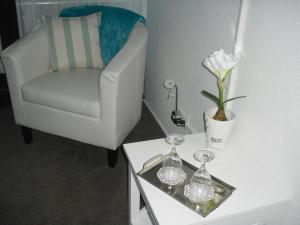 Ein Sitzbereich in der Unterkunft Gästehaus Cramer