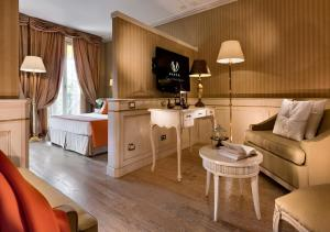 Гостиная зона в Grand Hotel Imperiale