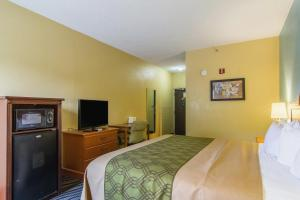 A television and/or entertainment center at Econo Lodge Darien