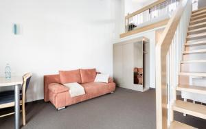 Ein Sitzbereich in der Unterkunft Donna Hotel Klosterhof